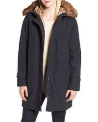 Barbour - Dexy Jacket With Faux Fur Trim - Lyst