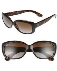 Ray-Ban - 58mm Polarized Sunglasses - Havana - Lyst