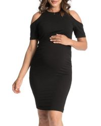Bun Maternity | Cold-shoulder Maternity Dress | Lyst