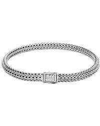 John Hardy - Classic Chain Hammered Clasp Bracelet - Lyst