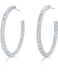 Kwiat - Diamond Inside-out Hoop Earrings - Lyst
