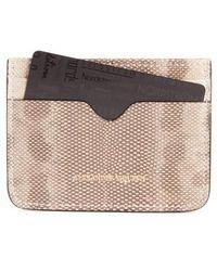 Alexander McQueen - Genuine Snakeskin Card Case - Lyst