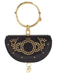Chloé | Small Nile Studded Suede & Leather Convertible Bag | Lyst
