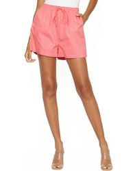 4si3nna Kimora Drawstring Shorts - Pink