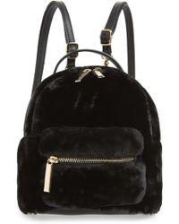 mali + lili Mali + Lili Gemini Faux Fur & Vegan Leather Convertible Backpack - Black