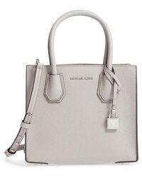 MICHAEL Michael Kors - Mercer Leather Crossbody Bag - Lyst