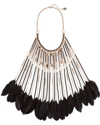 Natasha Couture - Feather Long Bib Necklace - Lyst