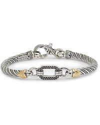 Konstantino - Hermione Silver & Gold Bracelet With Black Diamonds - Lyst