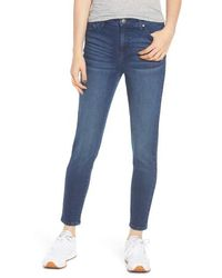 Tinsel High Waist Ankle Jeggings - Blue