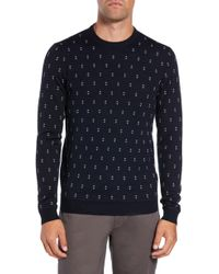 Ted Baker - Talkoo Triangle-knit Crewneck Sweater - Lyst