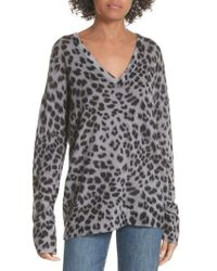 Equipment - Dee Leopard Print Cashmere Sweater - Lyst