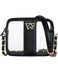 Kelly Wynne Clear Mingle Mingle Mini Crossbody Bag - Black