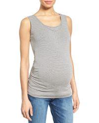 Nom Maternity - Henley Maternity Tank Top - Lyst