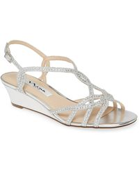 Nina Fancie Embellished Sandal - Metallic
