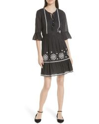 Kate Spade - Mosaic Embroidered Dress - Lyst