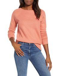 Caslon Caslon Knit Pullover - Pink