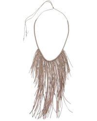 Serefina - Glistening Fringe Necklace - Lyst