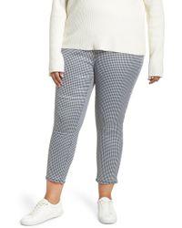 Tinsel Gingham Skinny Pants - Multicolor