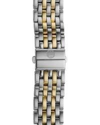 Michele Deco 16 16mm Two-tone Bracelet Watchband - Metallic