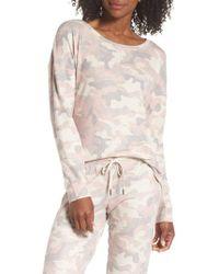 Pj Salvage - Camo Pajama Top - Lyst