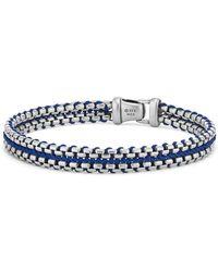 David Yurman Woven Box Chain Bracelet - Blue