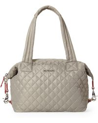 MZ Wallace Medium Sutton Deluxe Quilted Nylon Duffle Bag - Multicolor