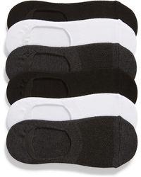 Nordstrom 6-pack No-show Liner Socks, Gray