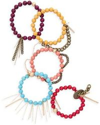 THE LACE PROJECT - Set Of 5 Beaded Bracelets - Lyst