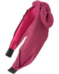 Tasha Knotted Bow Headband - Purple