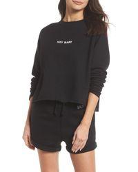 BRUNETTE the Label - Hey Babe Sweatshirt - Lyst