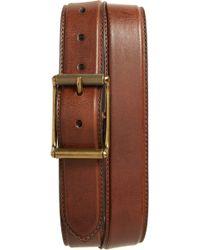 Frye - Pressed Edge Leather Belt - Lyst