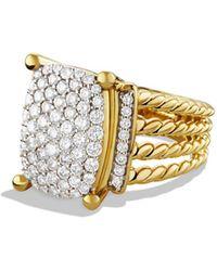 David Yurman Wheaton Pave Diamond Ring In 18k Gold, Size 5 - Metallic