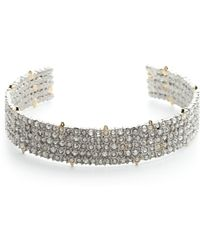 Alexis Bittar - Crystal Accent Lace Cuff - Lyst