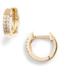 Bony Levy - Diamond Huggie Hoop Earrings (nordstrom Exclusive) - Lyst