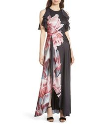 Ted Baker - Ulrika Tranquility Ruffle Maxi Dress - Lyst