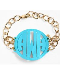 Moon & Lola | 'annabel' Large Personalized Monogram Bracelet | Lyst