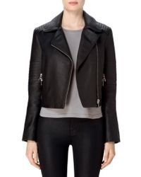 J Brand - Aiah Leather Moto Jacket - Lyst