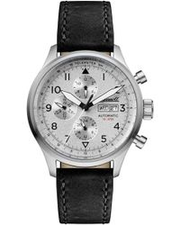 INGERSOLL WATCHES - Ingersoll Bateman Automatic Multifunction Leather Strap Watch - Lyst