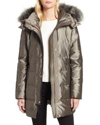 Cole Haan - Signature Faux Fur Silky Down Parka - Lyst