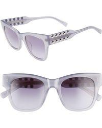 Rebecca Minkoff Tilden 2 51mm Gradient Square Sunglasses - Mauve - Purple