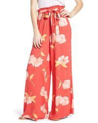 Billabong - Happy Dance Floral Wide Leg Pants - Lyst