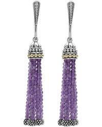 Lagos - Caviar Icon Tassel Drop Earrings - Lyst