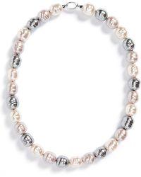 Majorica - 14mm Baroque Pearl Necklace - Lyst