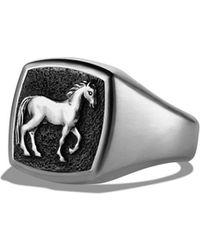 David Yurman - 'petrvs' Horse Pinky Ring - Lyst
