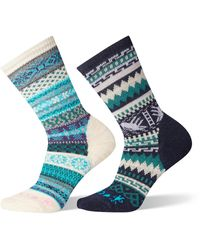 Smartwool X Chup 2-pack Crew Socks, Blue/green