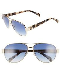Draper James - 61mm Aviator Sunglasses - - Lyst