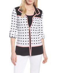 Ming Wang - Textured Colorblock Check Jacket - Lyst