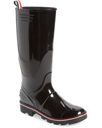 Thom Browne Molded Rubber Wellington Boot - Black
