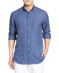 Robert Talbott Estate Tailored Fit Sport Shirt - Blue