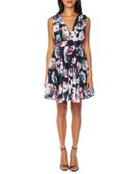 TFNC London - V-neck Fit & Flare Dress - Lyst